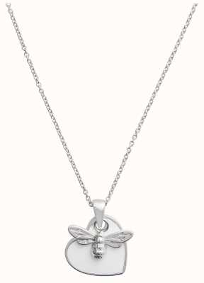 Olivia Burton You Have My Heart | Silver And White Necklace OBJLHN18