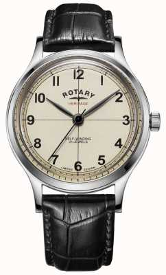 Rotary | Mens | Limited Edition | Heritage | Black Leather Strap | GS05125/32
