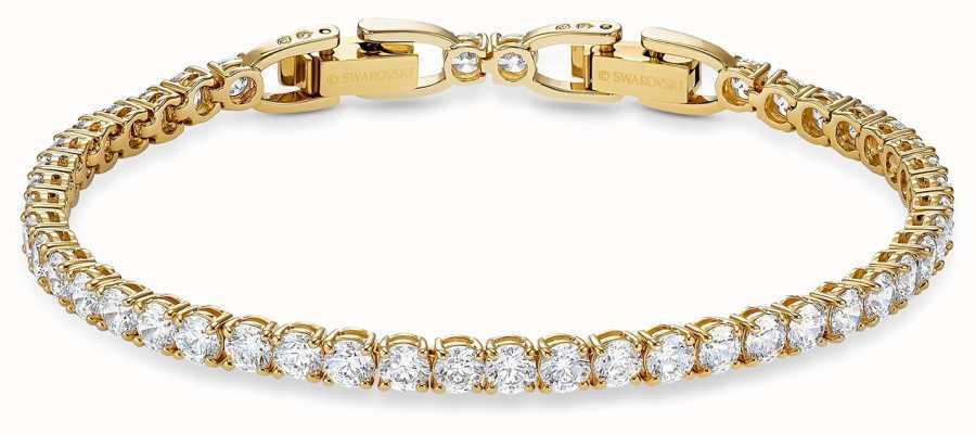 Swarovski Tennis Deluxe Bracelet | Gold-Tone Plated | White | M | 5511544