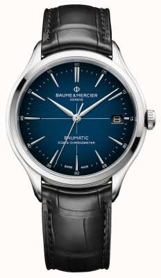 Baume & Mercier Clifton | Baumatic | Cadran Blue Dial | Black Strap M0A10467