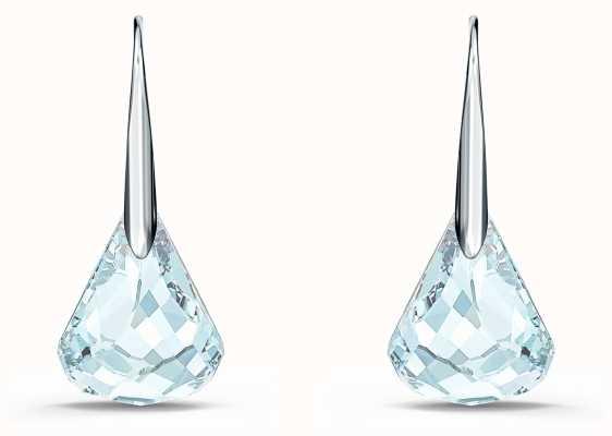 Swarovski Spirit | Pierced Earrings | Rhodium Plated | Aqua 5529138