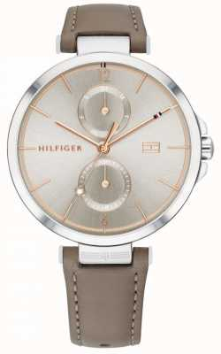Tommy Hilfiger | Women's | Angela | Brown Grey Leather Strap | 1782180