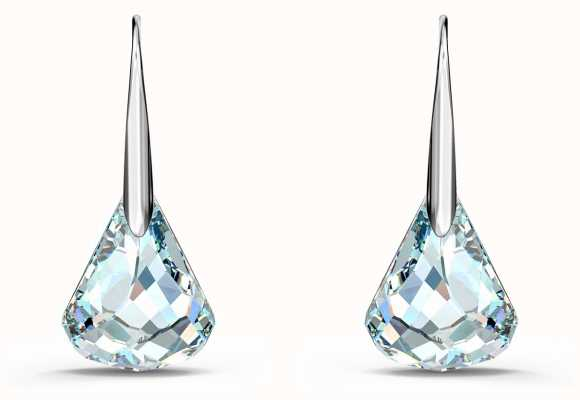 Swarovski Spirit | Rhodium Plated | Pierced Earrings | White/Blue 5516533