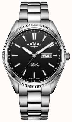 Rotary Men's Henley | Stainless Steel Bracelet | Black Dial | GB05380/04