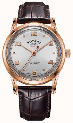 Rotary Men's Limited Edition Heritage | Rose Gold Case | GS05144/70