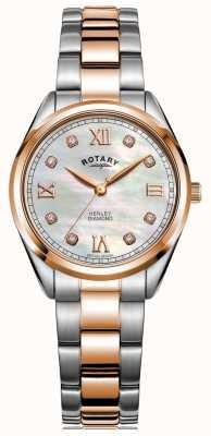 Rotary Women's Henley | Two-Tone Steel Bracelet | Diamond Set Dial LB05112/41/D