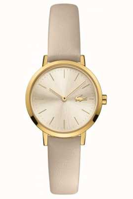 Lacoste Women's Moon | Leather Strap | Champagne Dial 2001119