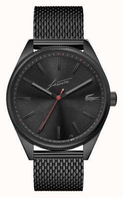 Lacoste Men's Heritage | Black PVD Mesh Bracelet | Black Dial 2011054