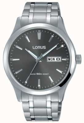 Lorus Mens Stainless Steel Bracelet Grey Dial RXN35DX9