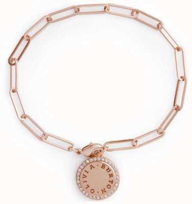 Olivia Burton Bejewelled Classics Disc Chain Bracelet Rose Gold OBJCOB39