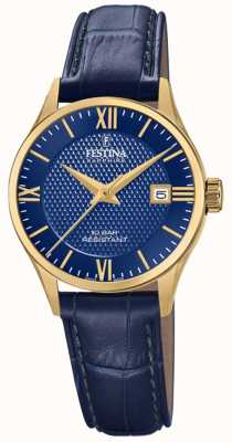 Festina Women's Swiss Made | Blue Leather Strap | Blue Dial F20011/3