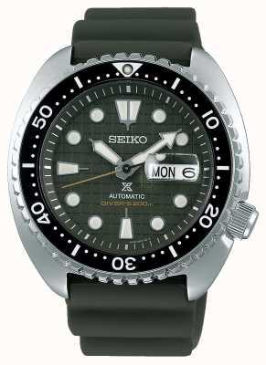 Seiko Prospex Gents Mechanical | Khaki Rubber Strap | Khaki Dial SRPE05K1