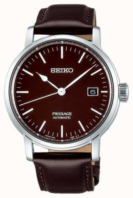 Seiko   Presage Gents Mechanical   Brown Leather   Brown Strap SPB115J1