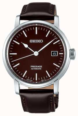 Seiko | Presage Gents Mechanical | Brown Leather | Brown Strap SPB115J1
