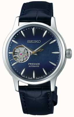 Seiko | Presage Ladies Mechanical | Blue Calf Leather | Blue Dial SSA785J1