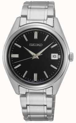 Seiko Conceptual Gents Quartz, Stainless Steel, Black Dial SUR319P1