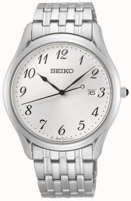 Seiko Conceptual Gents Quartz   Stainless Steel   Silver Dial SUR299P1