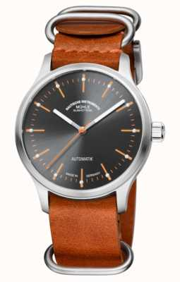 Muhle Glashutte Opposites Attract: The New Panova Grau | Brown Leather Strap M1-40-75-LB