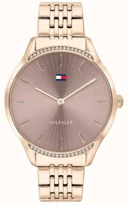 Tommy Hilfiger Gray | Rose Gold Ion-Plated Bracelet | Taupe Dial 1782212