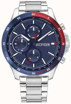 Tommy Hilfiger | Men's Bank | Stainless Steel Bracelet | Blue Dial | 1791718
