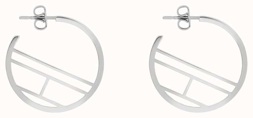 Tommy Hilfiger | Casual | Women's Stainless Steel Flag Hoop Earrings | 2780328