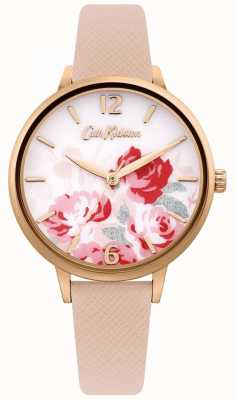Cath Kidston Women's Nude Leather Strap | Floral Dial CKL097PRG