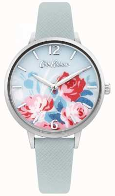 Cath Kidston Women's Light Blue Leather Strap | Floral Dial CKL097US