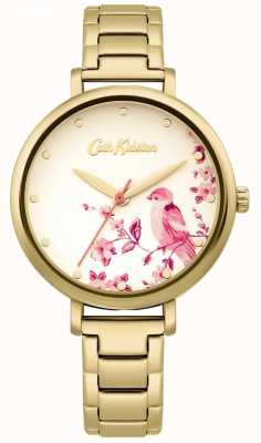 Cath Kidston Gold Stainless Steel Bracelet   Floral Bird Dial CKL099GM