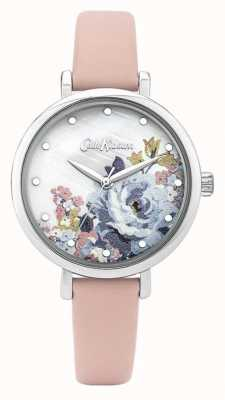 Cath Kidston | Women's Pink Leather Strap | Mother Of Pearl Dial | CKL087P