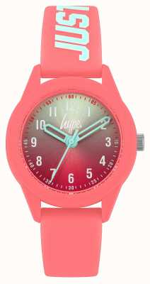Hype | Coral Silicone Strap | Two-Tone Dial | HYK003C