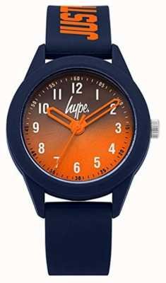 Hype | Navy Silicone Strap | Orange Dial | HYK003U