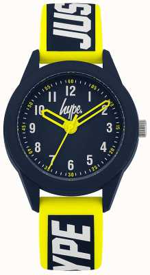 Hype | Yellow/Blue Silicone Strap  | Navy Dial | HYK004YU
