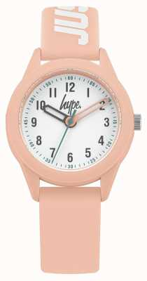 Hype | Pink Silicone Strap | White Dial | HYK005P