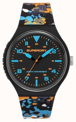 Superdry MATT BLACK DIAL | MULTI-COLOURED CAMO STRAP | SYG295BU