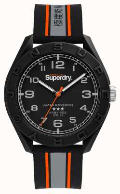 Superdry MATT BLACK DIAL | BLACK/GREY/ORANGE STRAP | SYG305EB