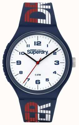 Superdry BLUE/WHITE/RED SILICONE STRAP | WHITE DIAL | SYG269UW