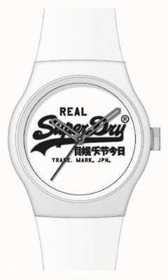 """Superdry WHITE SILICONE STRAP 