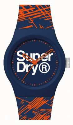 Superdry NAVY/ORANGE SILICONE STRAP | NAVY/ORANGE /WHITE DIAL | SYG292OU
