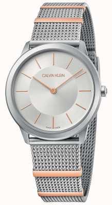 Calvin Klein | Minimal | Steel Mesh Bracelet | Silver Dial | 35mm K3M521Y6