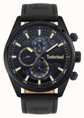 Timberland | Outdoor Seekers | Black Leather Strap | Black/Blue  Dial | 15953JSB/02
