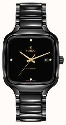RADO True Square Automatic Diamonds | Black Ceramic Bracelet R27078722