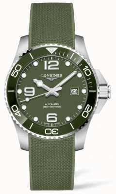 Longines Hydroconquest 43mm | Green Dial | Rubber Strap L37824069