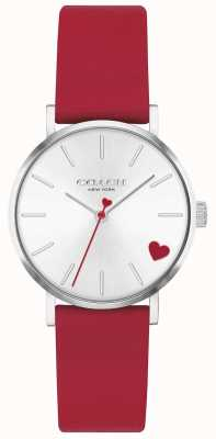 Coach | Women's Perry | Red Calf Skin Strap | Silver Dial | 14503517