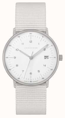 Junghans Max Bill Damen | White Nylon Strap | White Dial 047/4050.04