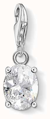 Thomas Sabo | Charm Pendant | White Oval Stone | Sterling Silver 1847-051-14
