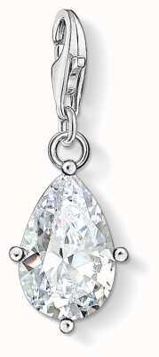 Thomas Sabo | Charm Pendant White Stone Droplet | Sterling Silver 1848-051-14