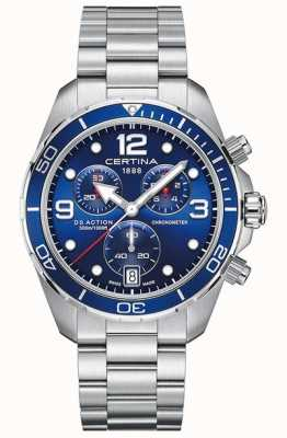 Certina DS Action Chrono | Chronometer | Stainless Steel Bracelet C0324341104700