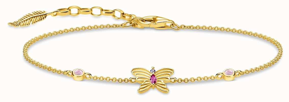Thomas Sabo   Butterfly Gold Bracelet   18K Gold Plated Sterling Silver A1937-488-7-L19V