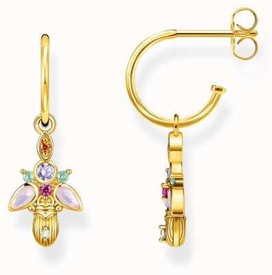 Thomas Sabo | Bug Hoop Earrings | 18K Gold Plated Sterling Silver CR651-488-7