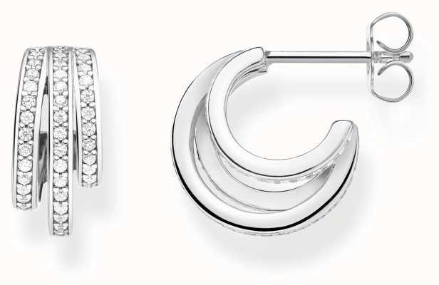 Thomas Sabo | Silver Hoop Earrings | Sterling Silver CR652-051-14